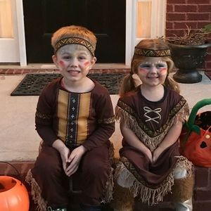 Other - Halloween Indian costumes boy girl 3T 4T